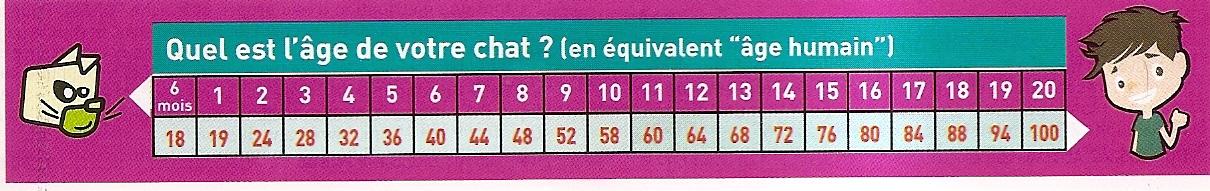 calculer l'âge du chat en âge humain